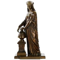 Egyptian Revival Patinated Bronze Sculpture of Water Carrier, France, circa 1880