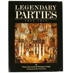 """""""Legendary Parties, 1922-1972"""" Book by Jean-Louis De Faucigny-Lucinge, 1st Ed"""