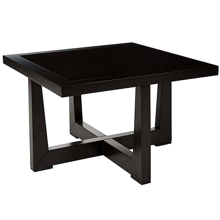Giorgetti Reverso Square Side Table With Glass Top 1