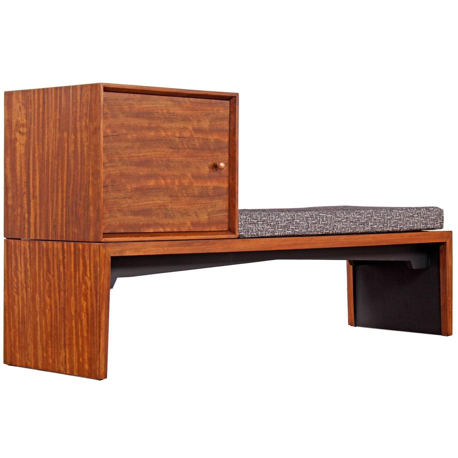 Milo Baughman For Drexel Modular Bench With Storage At 1stdibs