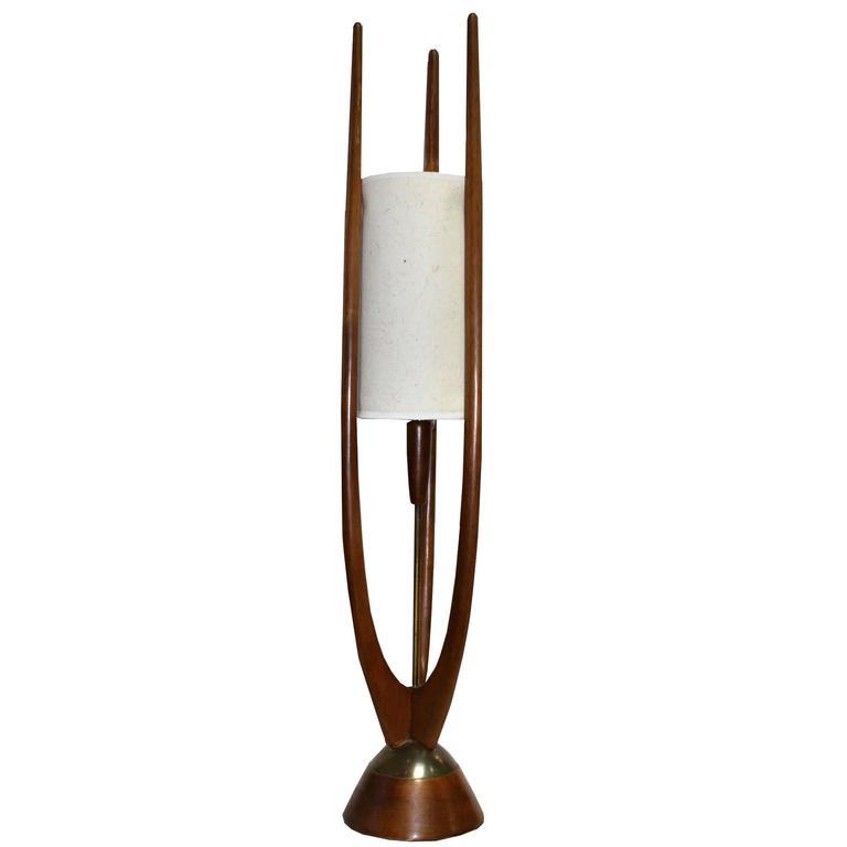 Original Adrian Pearsall Walnut Lamp