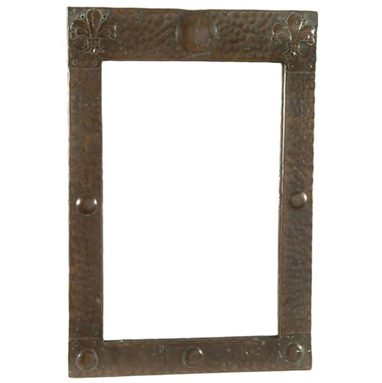 Arts and Crafts Copper Rectangular Wall Mirror, Attributed to Liberty and Co.