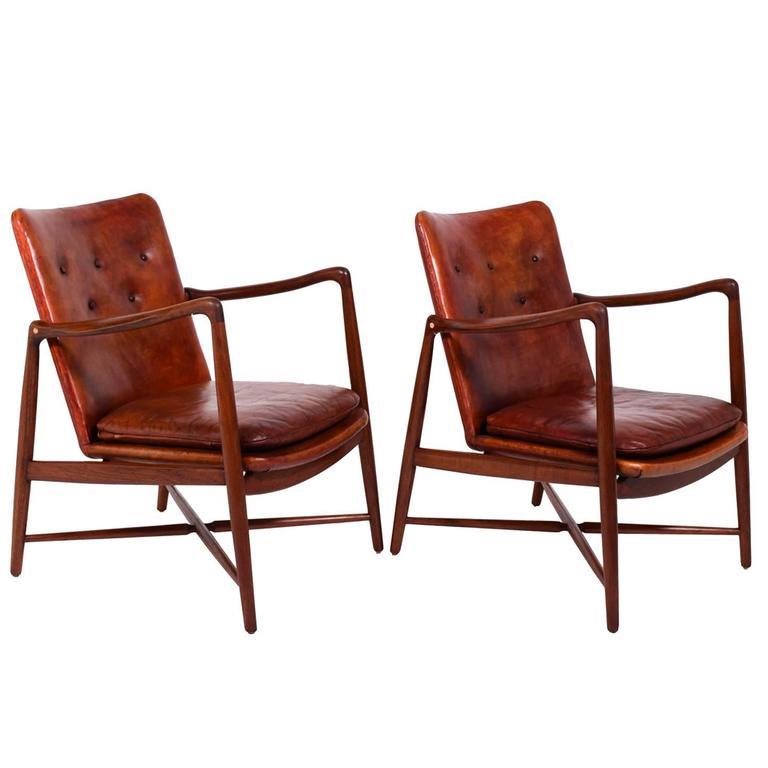 Pair of Finn Juhl Chairs for Bovirke, 1946 For Sale
