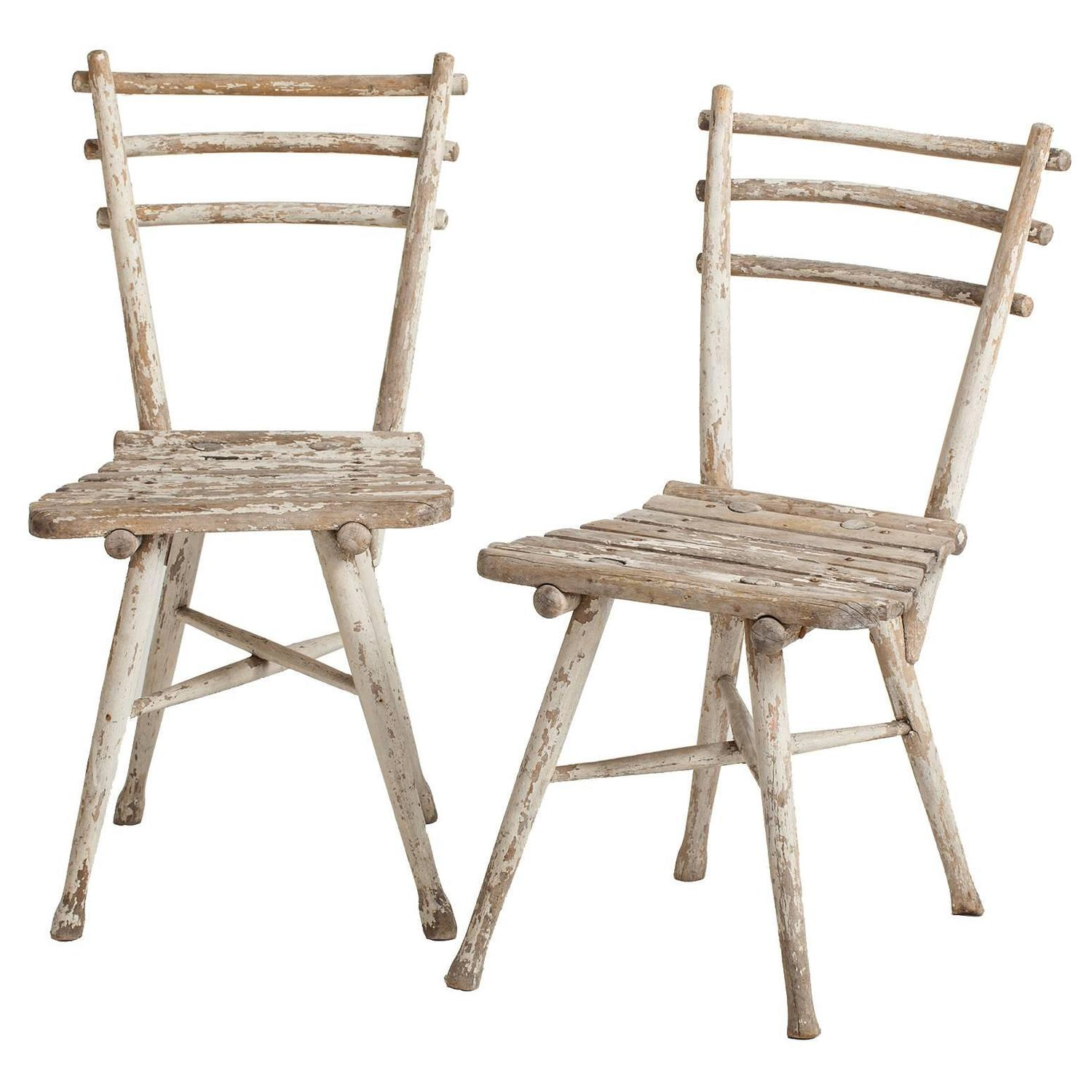 pair of antique austrian thonet garden chairs circa 1904 for sale at 1stdibs. Black Bedroom Furniture Sets. Home Design Ideas