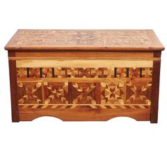 American Folk Art Parquetry Trunk