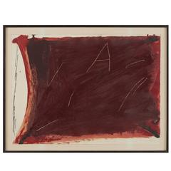 Color Etching by Antoni Tapies