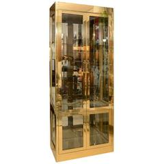 Vitrine Cabinet by Mastercraft, Brass