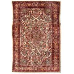 Fine Weave Antique Persian Sarouk Rug