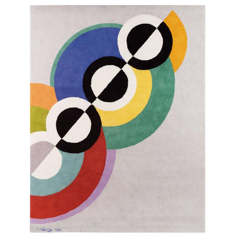 "Robert Delaunay ""Rythmes"" carpet, France 1"
