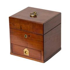 19th Century Mahogany Box with Drawer