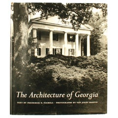 Architecture of Georgia by and Signed by Frederick Nichols 1st Edition