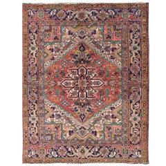 Colorful Persian Heriz Rug