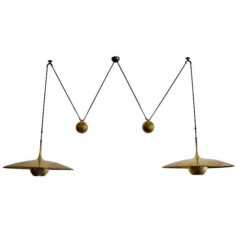 Florian Schulz Double Counter Balance Light in Brass