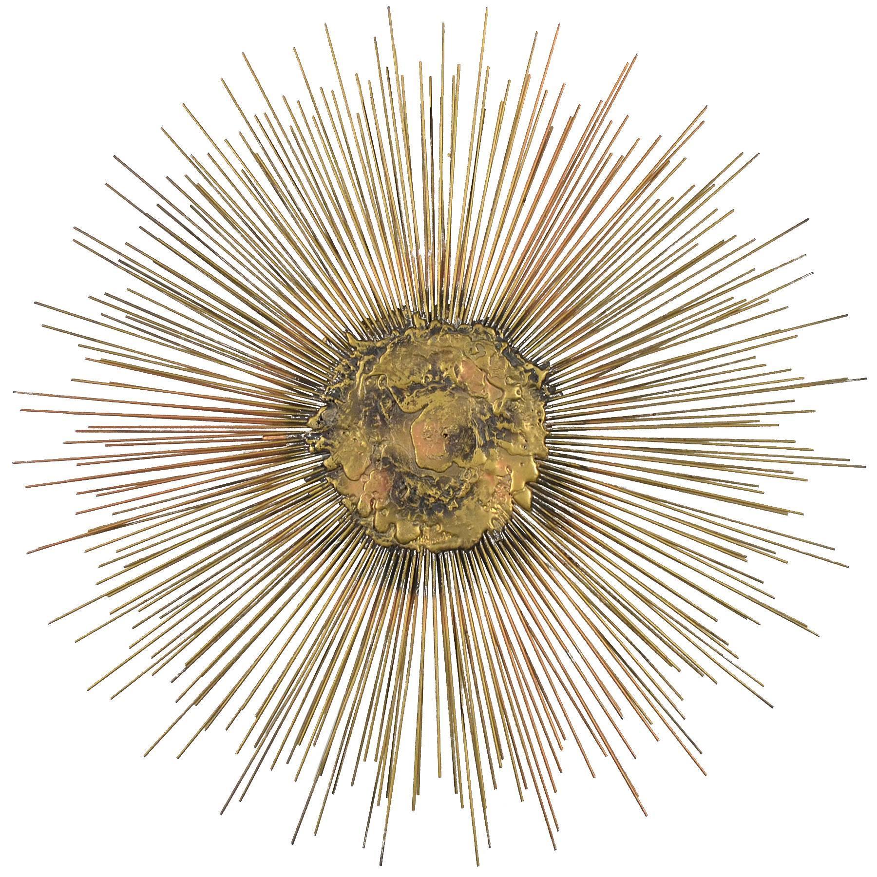 Bruce Friedle Wire Sunburst Sculpture