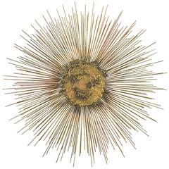 Wire Sunburst Sculpture in the Manner of C. Jere
