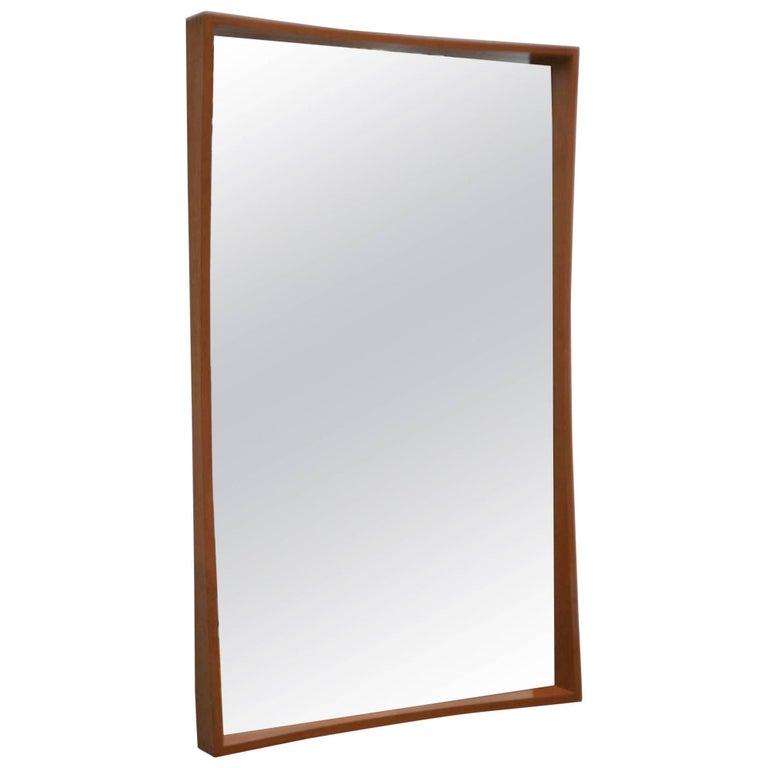 Midcentury Teak Wall Mirror by Pedersen & Hansen
