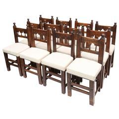 Set of 12 Spanish 18th Century Chairs