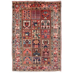 Persian Bakhtiari Rug with a Garden Design