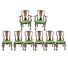 Set of Irish Mahogany Dining Chairs