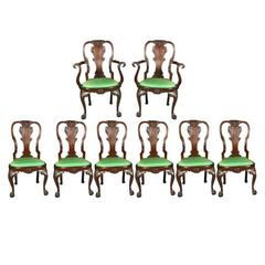 Set of Irish Mahogany Dining Chairs