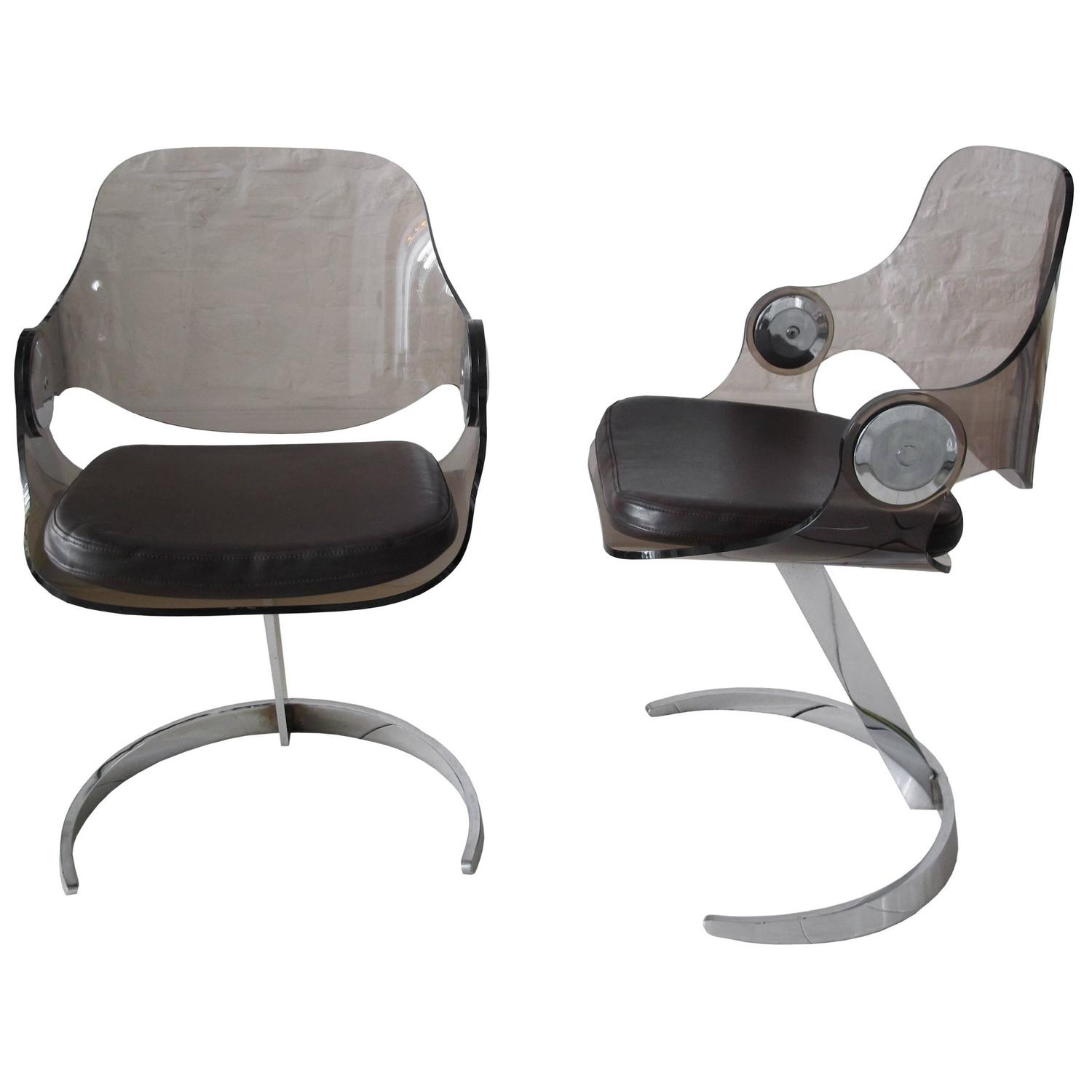 pair of lucite chairs by boris tabacoff for sale at 1stdibs