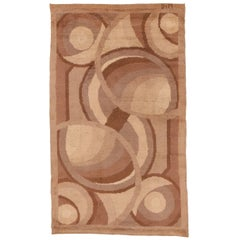 Antique French Art Deco Rug by D.I.M.