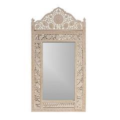 Vintage Large Moorish Style Painted Wall Mirror