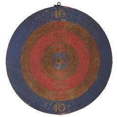 Red, White and Blue Dartboard, Paterson, NJ, WWII Era