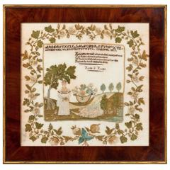 Outstanding New Hampshire Sampler, Dated 1817