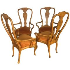 Original Phyllis Morris Antiques Queen Anne Armchairs
