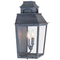 Colonial Inspired Wrought Iron Wall Sconce with Premium Dark Zinc Finish
