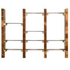 Paul Evans Wall-Mount Book Shelf