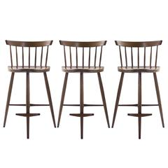 Set of Three Mira Bar Stools by George Nakashima