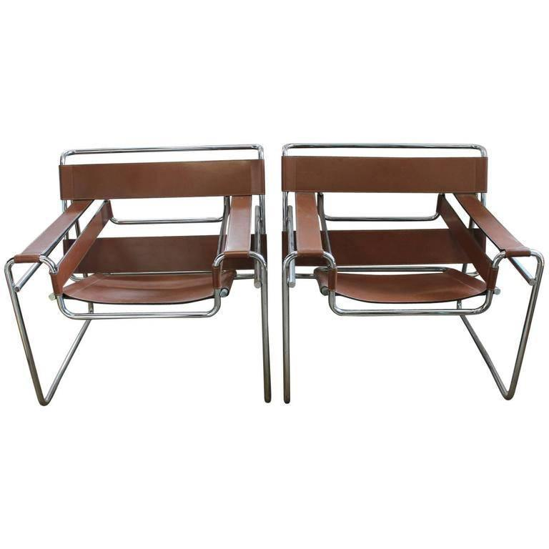 vintage wassily lounge chairs by marcel breuer for knoll. Black Bedroom Furniture Sets. Home Design Ideas