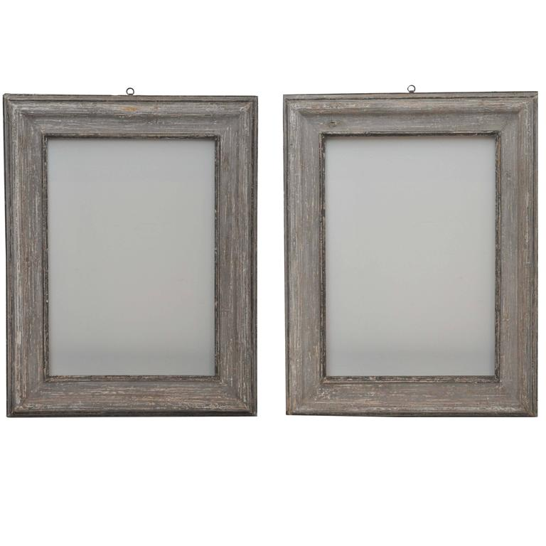 Early 20th Century French Weathered Wood Frames (pair available) at ...