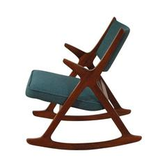 Norwegian Rocker Chair in Teak, 1950s