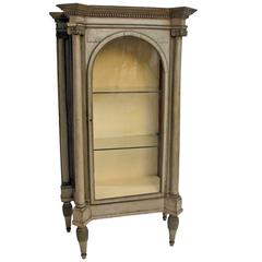 Painted Neoclassical Display Case Swedish