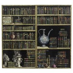 Piero Fornasetti, Pair of Doors of a Cupboard Made for a Private Custode, 1950