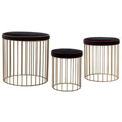 Set of Three Cage Stools