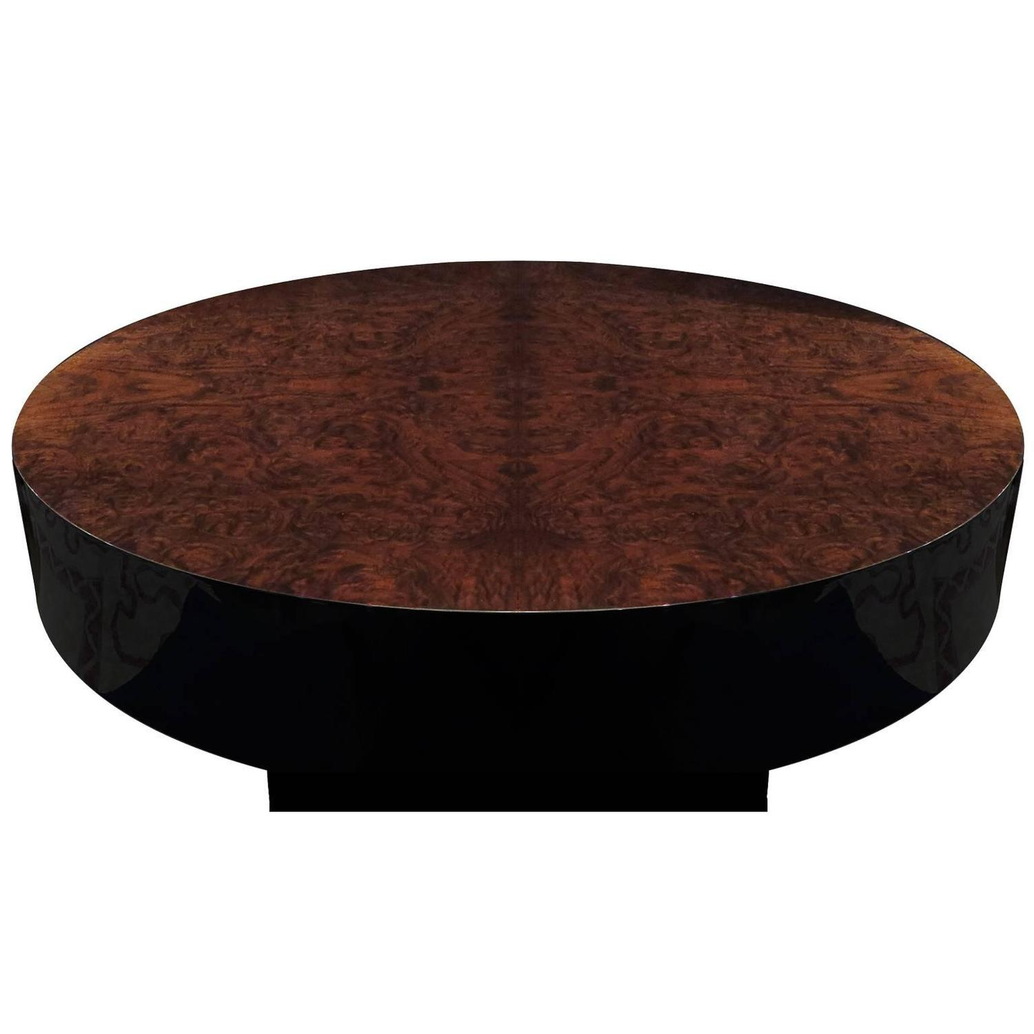 Mid Century Walnut Burl Pull Out Coffee Table For Sale at