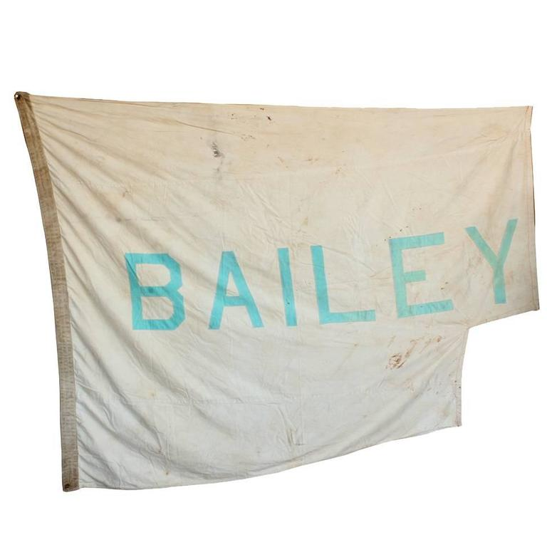 Vintage Circus Tent Flag, Bailey For Sale