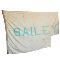 Vintage Circus Tent Flag, Bailey
