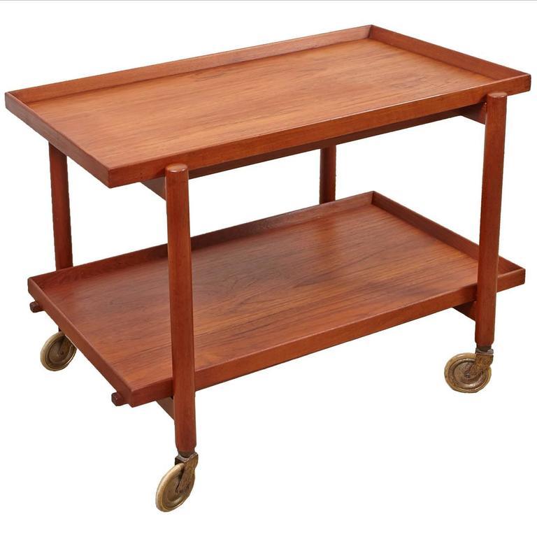 Poul Hundevad Danish Teak Bar Cart