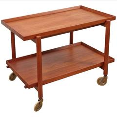 Poul Hundevad Danish Teak Bar Cart