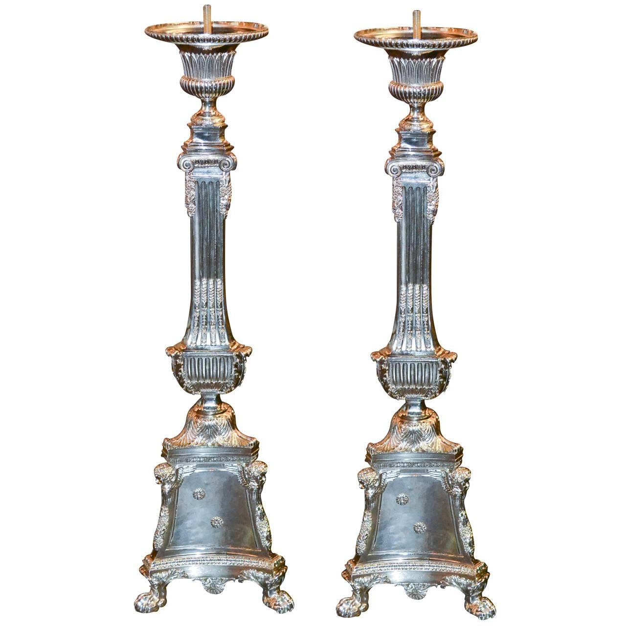 Pair of 19th Century French Altar Sticks