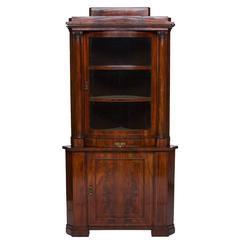 19th Century Mahogany Corner Cabinet