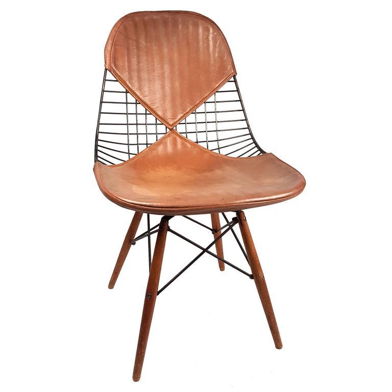 this charles eames pkw 2 dowel leg swivel chair 1950s is no longer