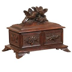Black Forrest Box with Two Birds on the Lid