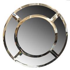 "Massive ""Saturn"" Mirror by Karl Springer"