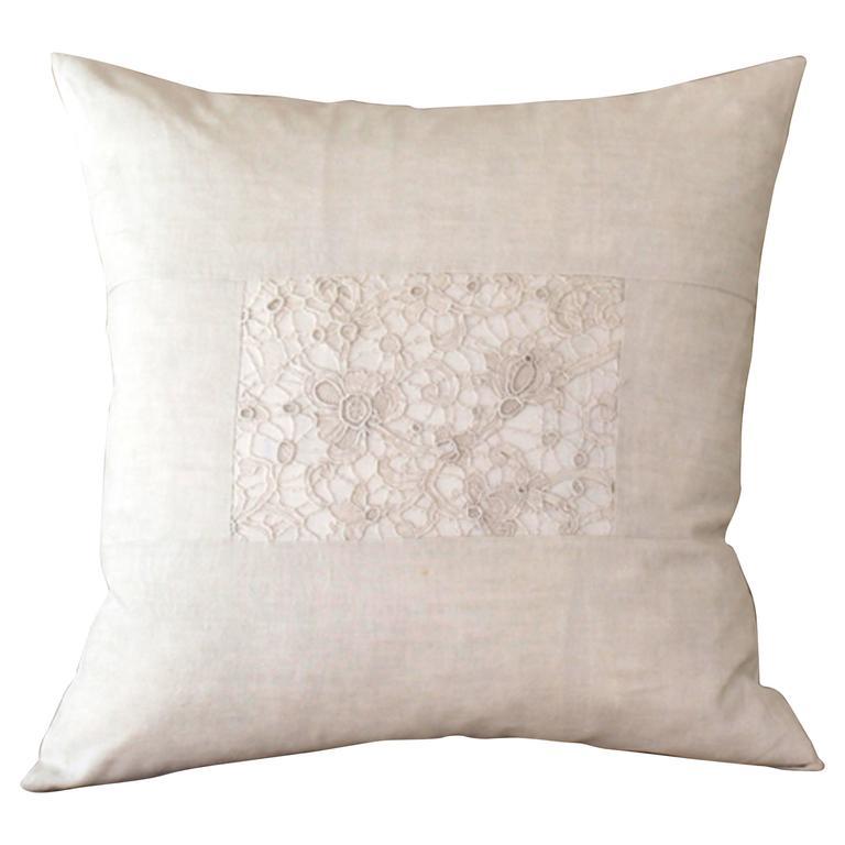 Large Antique Lace Cushion